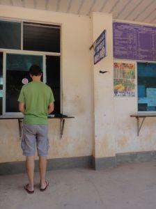 exiting Laos