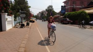 we cycle to go shopping or drop off our laundry