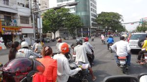 traffic everywhere in Cambodia, we loved it