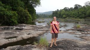 looking for some crocodiles at the first river