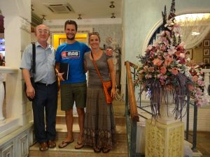 we meet Baurzhan and his father Yerken in a cafe in Pavlodar