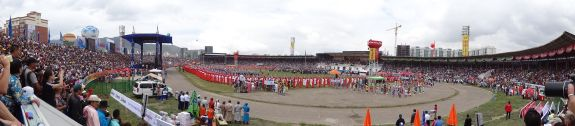 opening ceremony of Naadam in Ullanbaatar