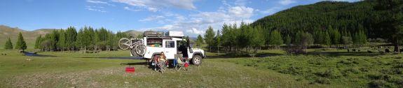 Jon's favourite campsite of the trip so far