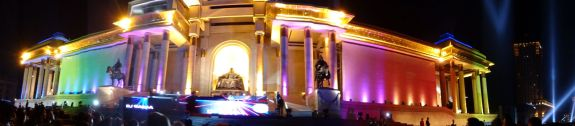 dj's and classical music on the main square in Ulaanbaatar