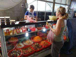 yummy salads in the Shymkent bazaar