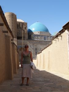 the ancient streets around the mausoleum transfer you back in time