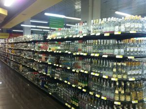 the choice of vodka in the supermarkets is absolutely staggering