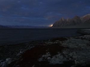 moonrise over Shor-Kul lake, another awesome caampsite