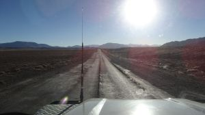 the Pamir Highway, tarmac almost everywhere but not always in good condition