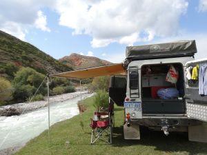lovely lunch spot in the Jeti Orguz valley