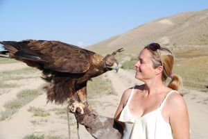 golden eagles are huge!