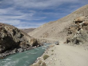 sensational, on the right Tajikistan, on the left Afghanistan
