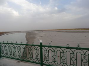 the once mighty Amu-Darya is now reduced to a trickle