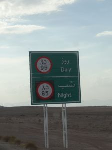different speed limits for day and night