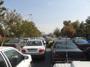 some traffic in Esfehan