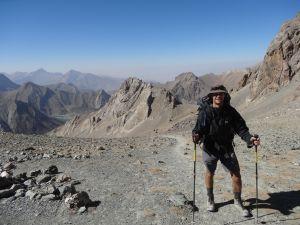 on top of Alauddin pass looking towards K lakes