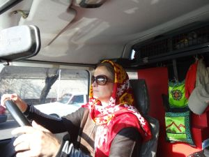 also whilst driving in Iran the hejab rules