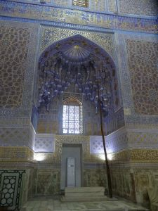 inside the Gur-e-Amir mausoleum, again the decoration was just overwhelming