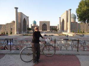 the famous Registan in Samarkand
