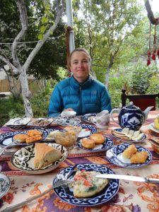 every breakfast a surprise in Samarkand, sensational
