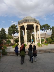random friendly girls become our guide in Shiraz