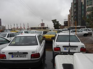 merging on a roundabout in Shiraz