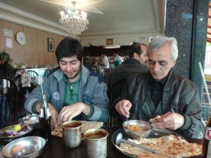 random people in Tabriz become our guides for 2 days, answer a million questions and insist on paying for our food and drinks