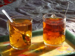 we don't understand how they are not all obese in Iran, if you don't drink it through a sugar cube this  is another way of drinking your cuppa