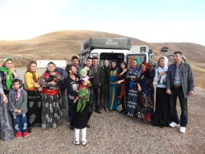 we met this Kurdish family in the parking lot of Takth-e Soleyman