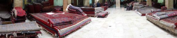 Tabriz bazaar - carpets everywhere