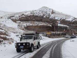 no wonder it was cold last night - it snowed only a few km up the road