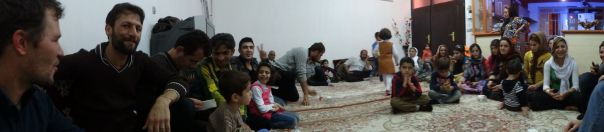 name of place? - part of the Kurdish family in the oversized livingroom