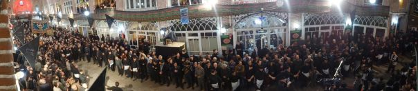 Tabriz bazaar - watching the commemoration of Imam Hoessein from the first floor of the carpet shops in Tabriz
