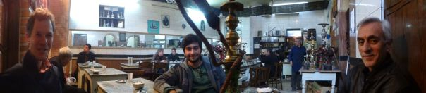 Tabriz - teahouse in Tabriz with Sina and Mohammad
