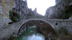 Noutsos (or Kokkoris) Bridge, built in 1750 over the river Voidomatis