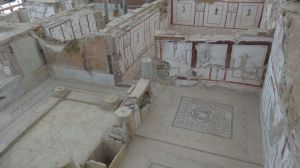 incredibly detailed mosaics in the townhouses of the wealthy in Ephesus