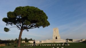 silent contemplation at the Lone Pine War Cemetery