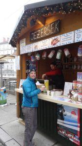 one of many gluhwein stalls in Ljubljana