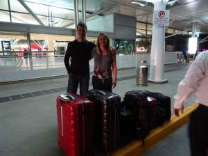 yes, we are deeply ashamed for our matching suitcases (and the fact we are now traveling with suitcases!)