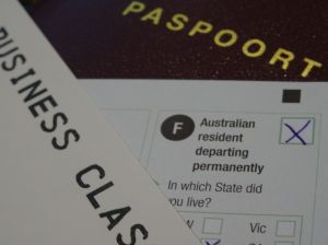 Australian resident departing permanently...