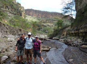 on our way to the geysers in Hell's Gate
