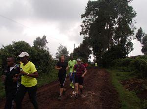 Anna-Maria and Jude at the start of the 'run-till-you-drop' Swaras run