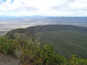 view of the crated of Mt Longonot