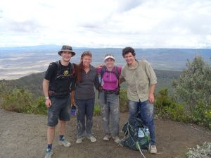 highest point on Mt Longonot - a dusty affair getting there