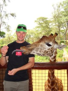 average length of a giraffe tongue is 45cm...!