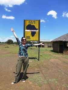 Kat crossing the equator