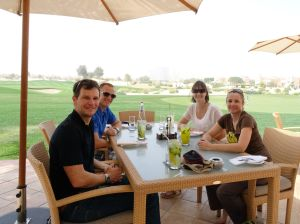lunch with Roger and Joanne near their home in Dubai