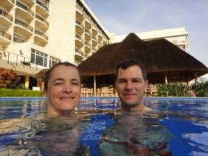 morning swim in the famous pool of Hotel Rwanda