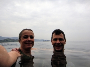 another morning swim in one of Africa's few lakes where there is no bilharzia, and more importantly, no crocs and no hippos!